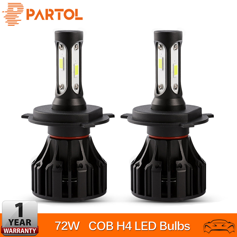 Partol T5 H4 Bombillas LED para faros delanteros Hi Lo Beam LED H4 - Luces del coche