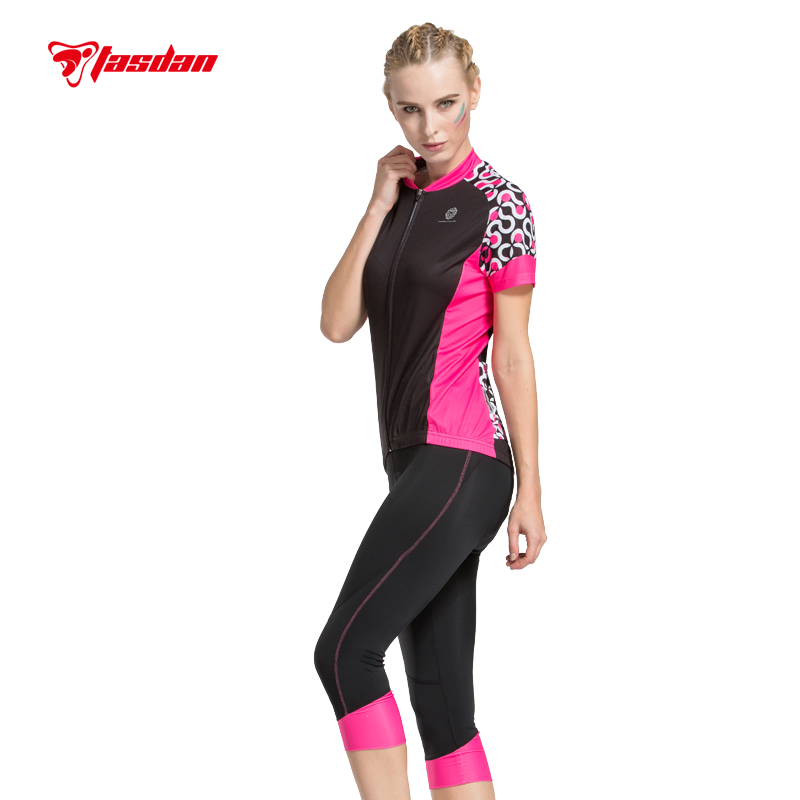 Tasdan Women's Cycling Clothings Cycling jersey Sets Cycling 3/4 Pants Tight Quick Dry Breathable Sports Wear Cycling Shorts summer sports cycling clothes men s cycling jersey sets breathable quick dry mountain bike sports wear for spring women new
