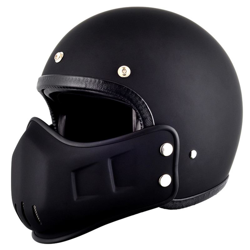 tt&co open face motorcycle helmet vintage scooter retro helmets with windproof mouth personalized harley cruise style M L XL XX