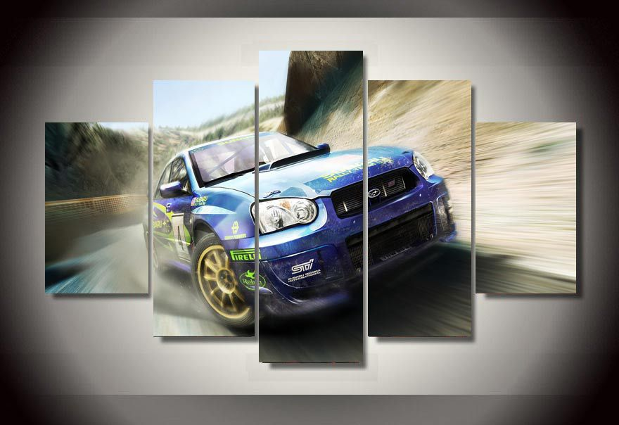 framed printed racing car picture painting wall art room decor print poster picture canvas free shipping