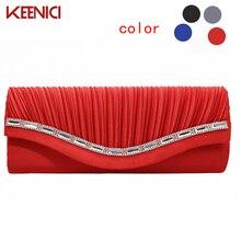 Mode Frauen Abendtasche Messenger Kette Umhängetaschen Geraffte Muster Dame Tag Clutch Wristlet Handtasche Mit Kette Multi Farbe
