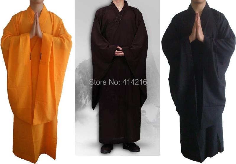 Jacken Famousbrand Buddhistischer Mönch Lange Robesgown Buddhismus Meditation Laien Haiqing Kleidung Kleidung Kampfkunst Anzüge Top Qualität 3 Farben Hohe Sicherheit