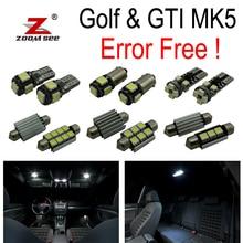 17 шт. X canbus для VW Volkswagen GTI Кролик Golf 5 MK5 MK V Светодиодный светильник внутренняя подсветка+ парковка город свет комплект посылка(2006-2009