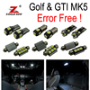 17pc X Canbus For VW Volkswagen GTI Rabbit Golf 5 MK5 MK V LED Lamp Interior