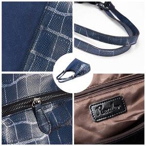 Image 4 - Realer women handbag luxury genuine leather Patchwork pattern cross body shoulder bag female messenger bag high quality for lady