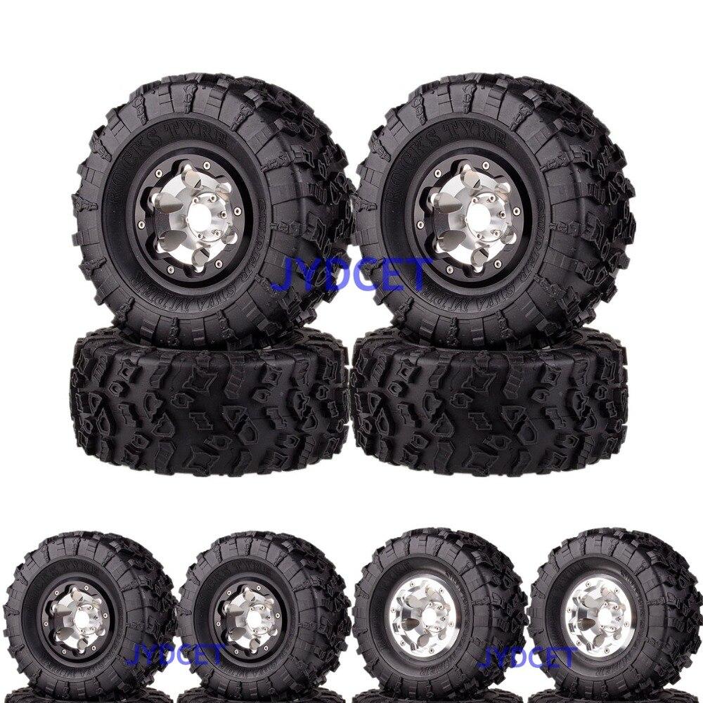 2023 3022 aluminio 2,2 Beadlock Rueda y 132mm neumáticos para RC 1/10 modelo Crawler Axial Traxxas