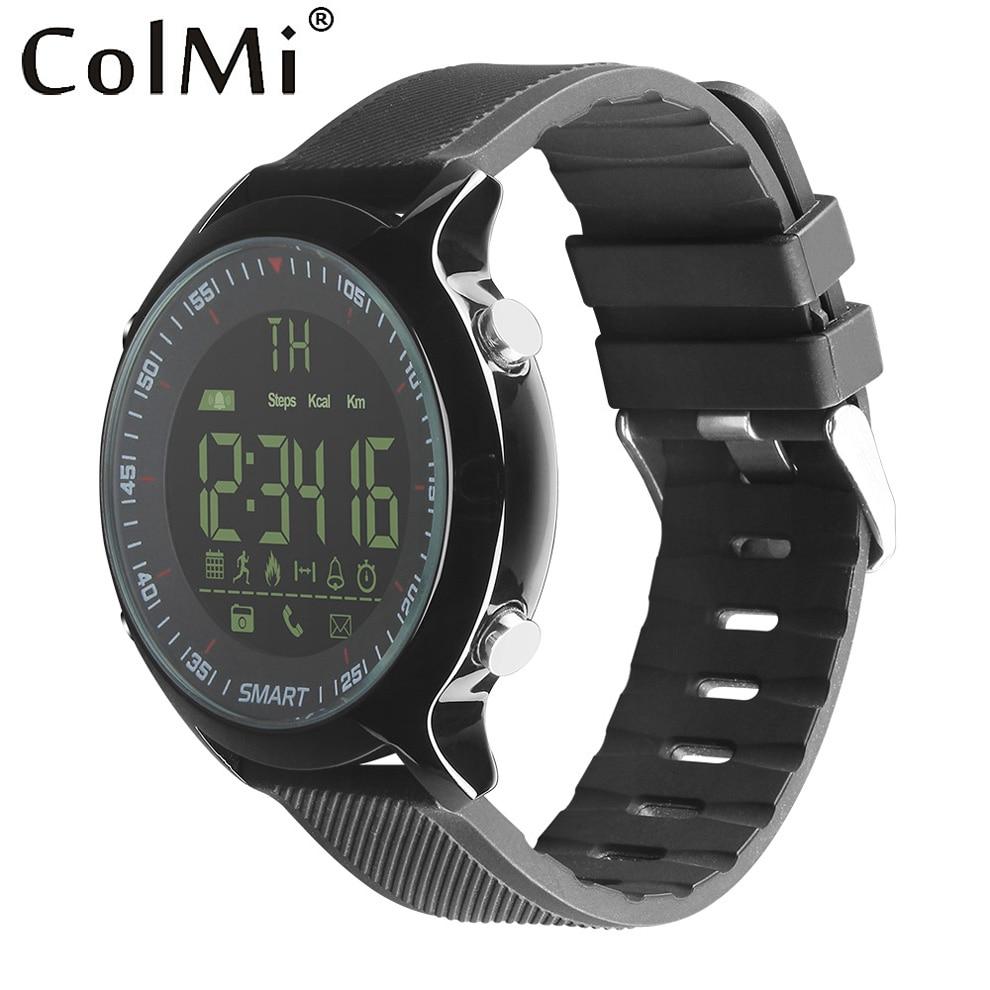 ColMi 50 m Étanche Professionnel Smart Sport Montre en temps Réel Enregistrer Chronomètre Appel SMS Notification pour Android IOS Téléphone