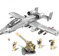 XINGBAO 06022 Military The A10 Fighter Building Blocks Thunderbolt II Warthog Fighter DIY Plane Bricks Toys Gift For Children