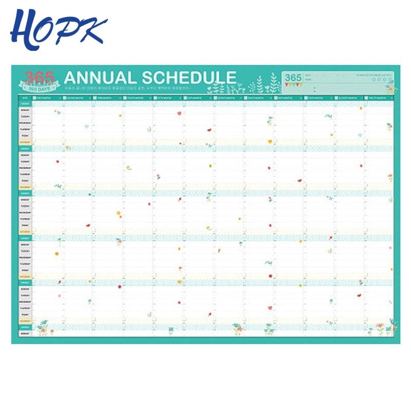 365 Day Planner Calendars Plan Book Cute Cartoon Paper Ideas Plan Book Kawaii Stationery School Office Supplies Agenda 2019