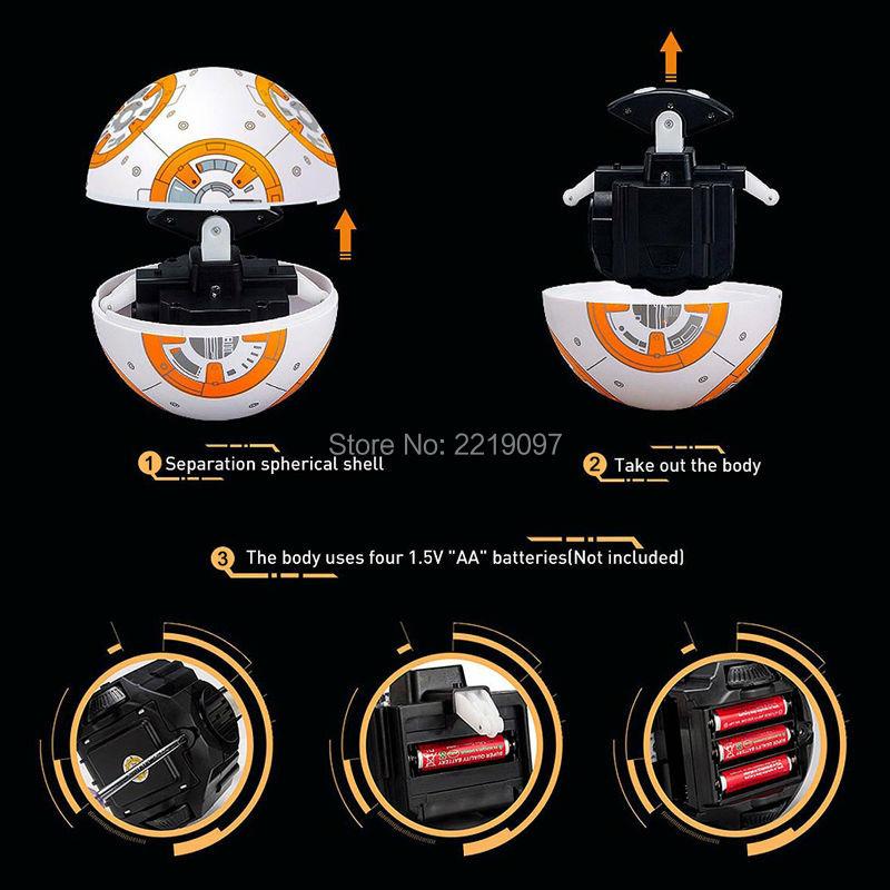 Star Wars RC BB8 Ευφυής Αναβάθμιση Μικρή - Στοιχεία παιχνιδιών - Φωτογραφία 6