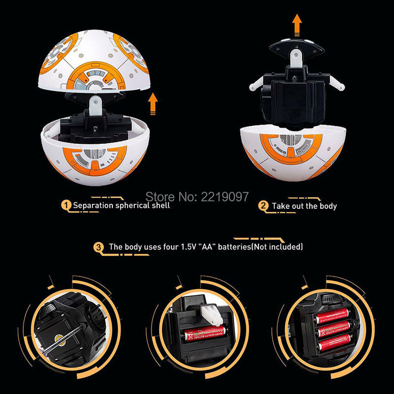 Figuras de Ação e Toy star wars rc bb8 atualizar Color : See The Picture