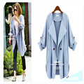 Brand New Autumn Fashion Solid Women Ladies Windbreaker Casual Thin Long Tops Outwear Coat