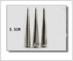 5 шт. 10*55 мм Серебряные Шипы в форме пули конусные штифты, заклепки для кожи DIY готика панк стальные пятна remates cuero заклепки для одежды