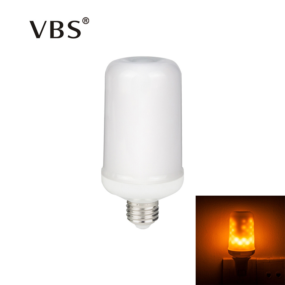 110V 220V 2835 SMD LED Bulb Fire Effect Dynamic Flame Lamp E27 Flicker Emulation Christmas decor Lights Lampada 1300K Fire Color hot halloween home decoration 5w 2835 smd 99 led lamp bulb e27 flame flickering breathing general modes led lights bulb 110 240v