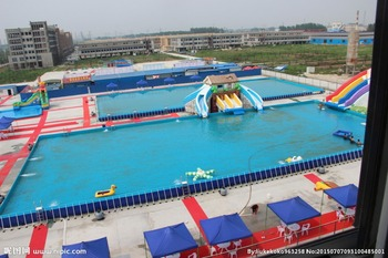 Factory direct inflatable castle slides Pool slide, large water park Inflatable pool KY-717