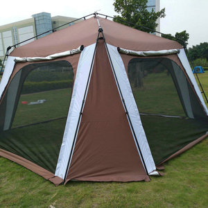 Image 2 - 5 8 kişi açık katlanır çadır hızlı otomatik açılış Pergola çift katmanlı kamp çadırı artırılmış su geçirmez güneş barınak