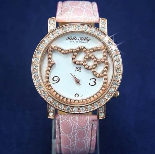 Freeshipping Hot Sale 10pcs/lot  2011 New wholesale Fashion Hello Kitty Watch 20110421-6 Fashion Watch