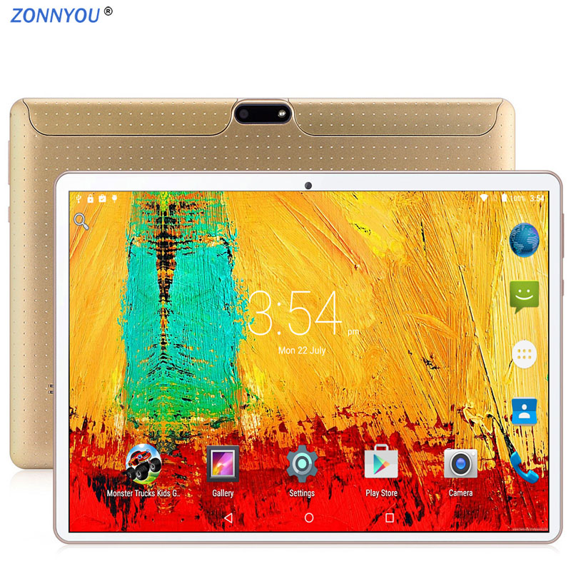 10.1 polegada Tablet PC 3G Phone Call Android 8.0 Octa Núcleo 8.0MP 64 4GB de RAM GB ROM GPS IPS Dual SIM Cards Tablets PC 10.1