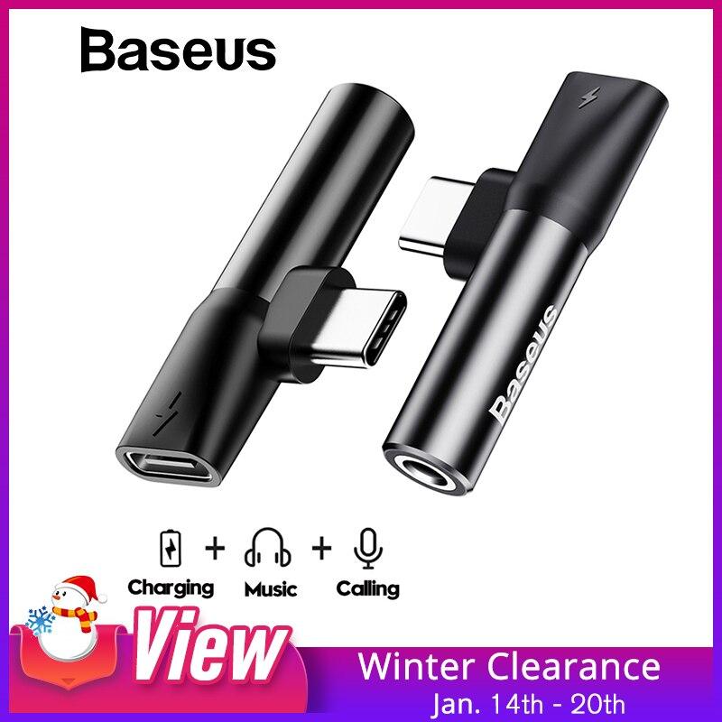 Baseus Usb C zu 3,5mm Aux Jack Audio Kabel Handy Audio splitter Adapter Typ-C Lade Adapter für Huawei Xiaomi Oppo