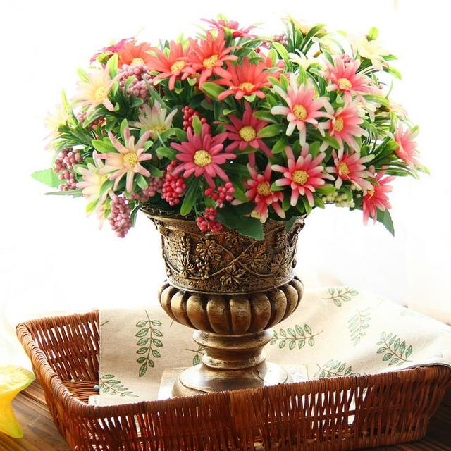 Free shipping pink red artificial silk daisy diy flower arrangements free shipping pink red artificial silk daisy diy flower arrangements home decoration artificial flowers mightylinksfo