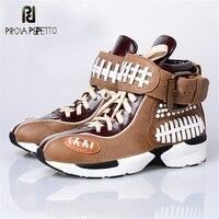 Prova Perfetto/Модная обувь в американском стиле, смешанные цвета, обувь с ремешком на щиколотке и пряжкой, обувь для отдыха на танкетке, Женская ву
