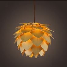 Moderne Hanglampen Dennenappel Keuken Lamp voor Eetkamer Woonkamer Restaurant LED Loft Verlichting Vintage Houten Lamp