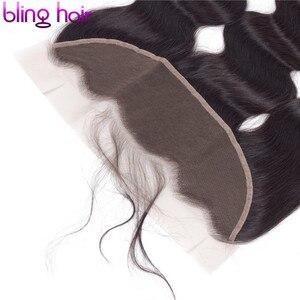 Image 5 - ブリンブリンヘア実体波 13 × 4 レースフロント人間の髪留め無料一部ブラジルのremy毛スイスレース自然な色