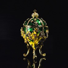 Fashionable Metal Mascot Collection Faberge Egg Jewelries Box