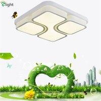 عكس الضوء التحكم عن المعادن الاكريليك أدى ضوء السقف الحديثة شيوع مربع مصباح السقف فوير نوم