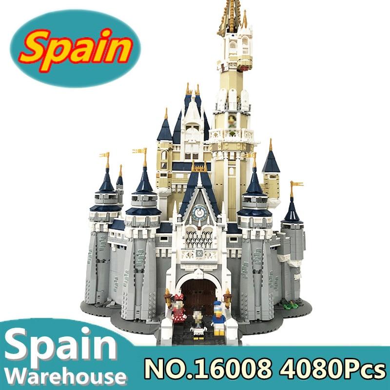 16007 16008 Cinderella Princess Castle Haunted House Building Blocks Movie City Street Creator 10228 71040 Toys