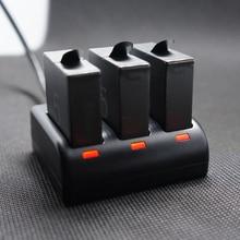3x hero 7 батарея 1600 мАч AHDBT-501 bateria для Gopro7 батареи + 3 порты зарядное устройство для GoPro hero 7 6 5 Go Pro hero 5 6 камера