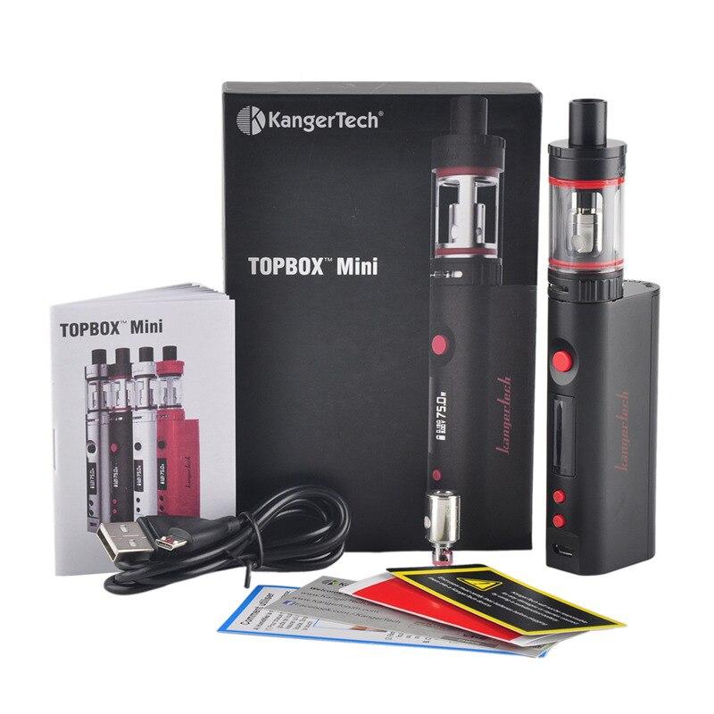 kangertech Kanger topbox mini Starter kit e electronic cigarette with KBOX Mini TC Mod 75W TOPTANK Mini 4ml tank 0.5ohm SS Coil