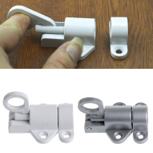 OOTDTY алюминиевый белый/серый оконные ворота безопасности тяговое кольцо пружинный отскок дверной болт алюминиевый защелка замок