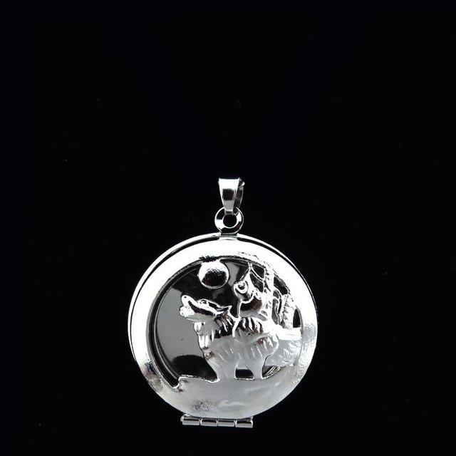 Glowcat k160 gothic howling wolf locket cage necklace jewelry glowcat k160 gothic howling wolf locket cage necklace jewelry making aromatherapy essential oil locket pendant aloadofball Images