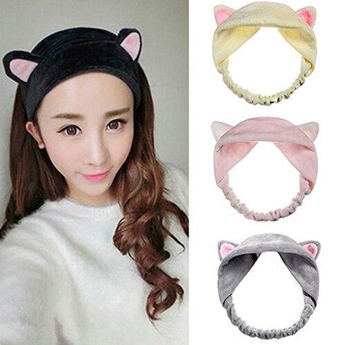 Women Korean Style Cute Cat Ears Elastic Face Wash Headdress Headband Hair  Band-in Hair Jewelry from Jewelry   Accessories on Aliexpress.com  dbb0ff12248
