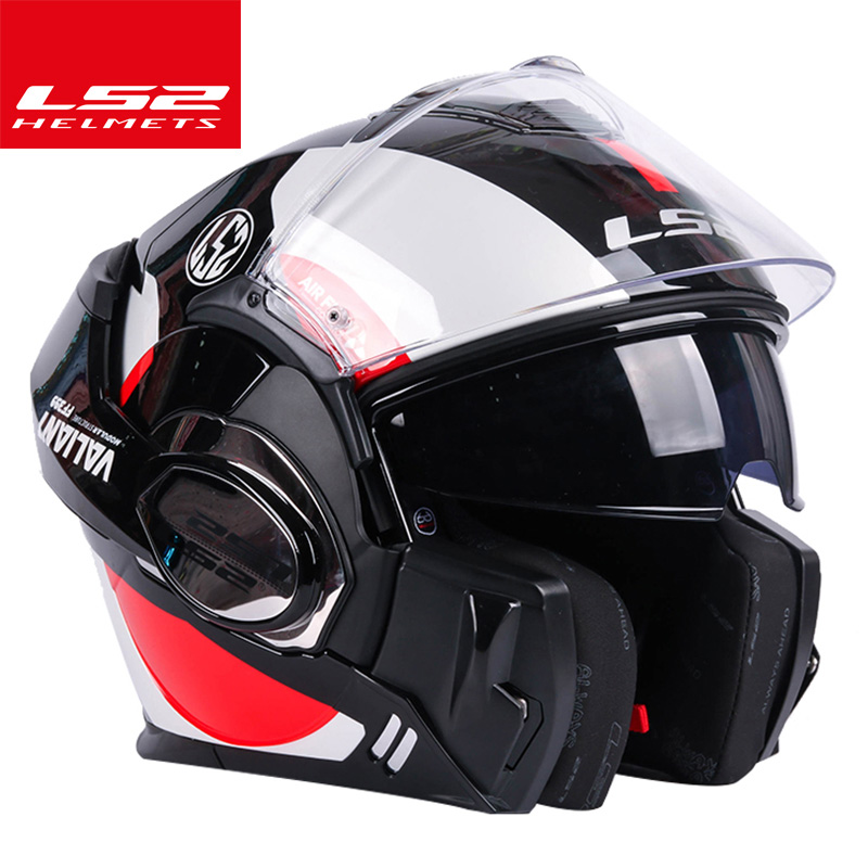 LS2 Mondial magasin LS2 FF399 Vaillant flip up casque de moto double lentille moto unique mono convertible casques modulables