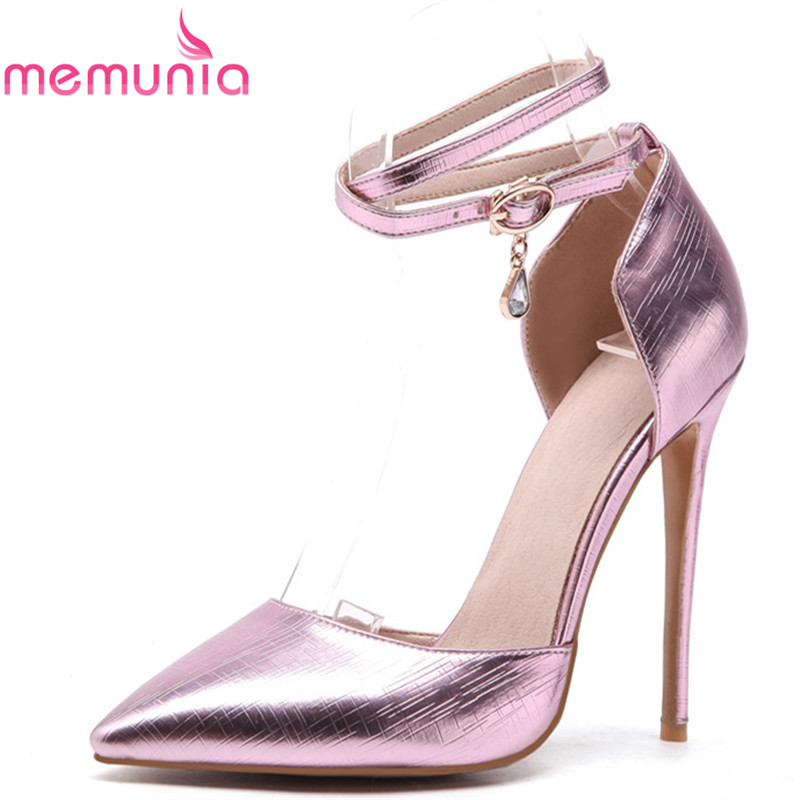 MEMUNIA  pumps women shoes high heels spring summer autumn comfortable pointed toe fashion new arrive  wedding shoes siketu 2017 free shipping spring and autumn women shoes high heels shoes wedding shoes nightclub sex rhinestones pumps g148