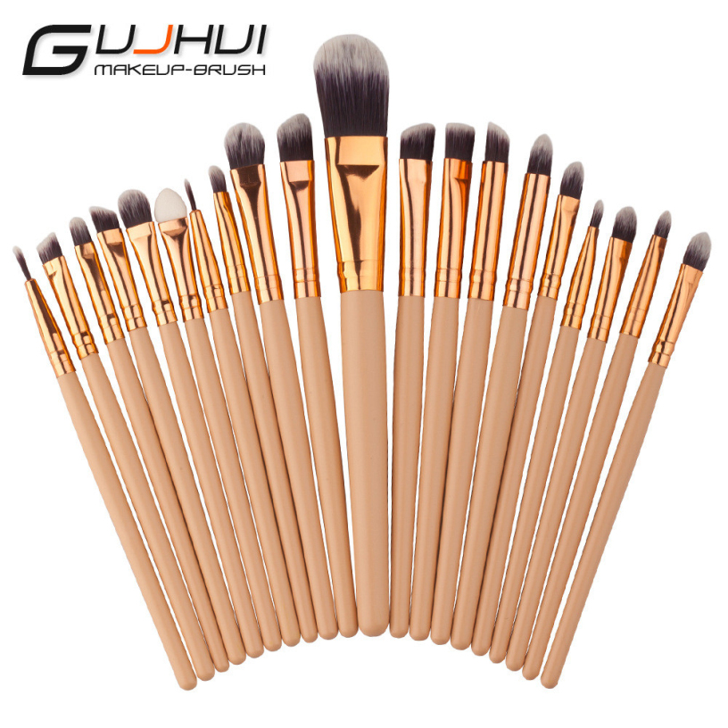 Best Deal New 20PCS Makeup Brushes Set Tools Make-up Toiletry Kit Wool Brand Make Up Brush Set Case Cosmetic Foundation Brush new professional 15 pcs makeup brushes set tools make up toiletry kit make up brush set case cosmetic foundation brush