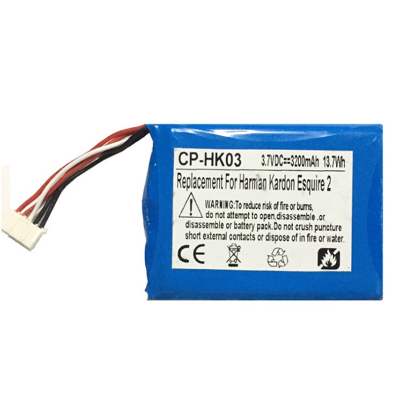 GSP805070 Battery for Harman Kardon Esquire 2 Speaker 3.7V 3200mAh New Li-Po Li Polymer Rechargeable Batteria Pack ReplacementGSP805070 Battery for Harman Kardon Esquire 2 Speaker 3.7V 3200mAh New Li-Po Li Polymer Rechargeable Batteria Pack Replacement