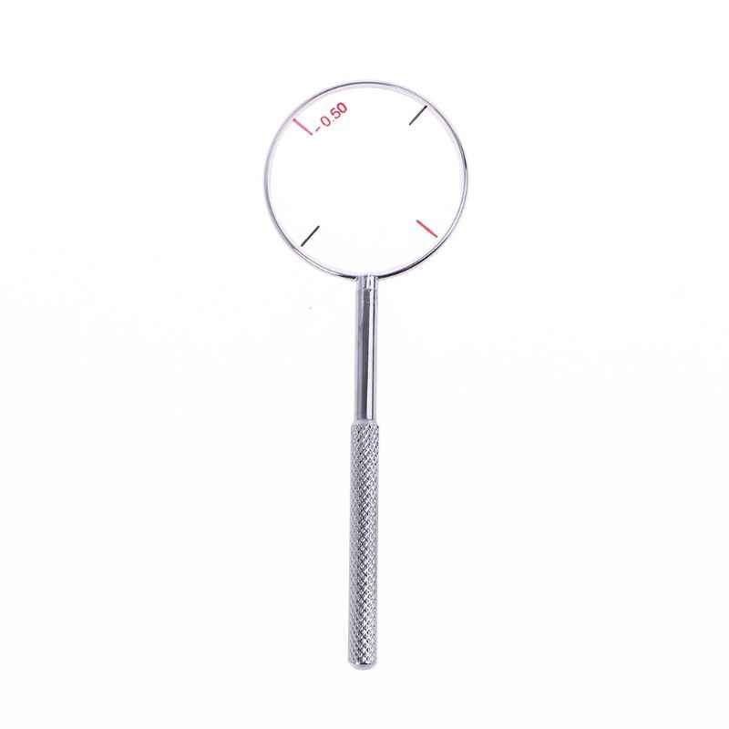 Round Optical Cross Cylinder Lens Tool Optical Instruments Ophthalmic Lens Diopters Optometry Accessories 0.25 / 0.50