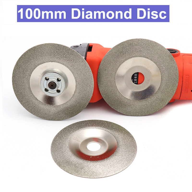 URANN 100mm Diamond Grinding Disc Cut Off Discs Wheel Glass Cuttering Saw Blades Rotary Abrasive Tool Silver 80 120 150 180 Grit