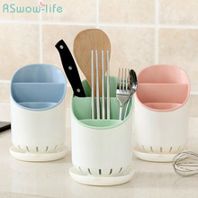 Plastic Household Multifunctional Chopsticks Rack Kitchen Compartment Holder For Supplies