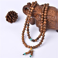 6mm 8mm Wood Buddhist Buddha Meditation 108 beads Wood Prayer Bead Mala Bracelet Women Men jewelry 2 colors