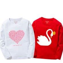 Nova chegada do bebê meninas moletom primavera outono 2020 camisola adolescente crianças roupas menina algodão cisne camiseta manga longa camisetas topos