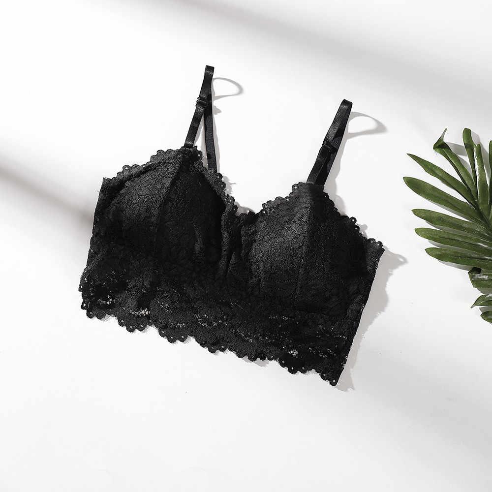 Mode Frauen Sexy Bh rohr top Feste Farbe Weste Damen Spitze eingewickelt brust Nahtlose Atmungs Push-Up Top Unterwäsche