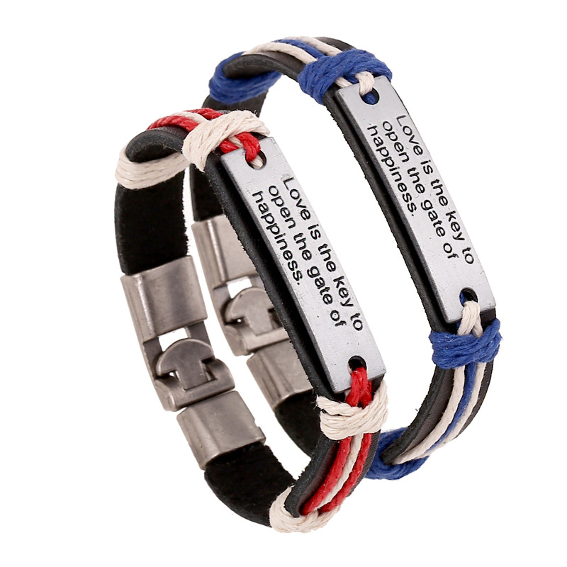 Trending Letter Bracelets for Couples Lovers Jewelry Letter Steel Men's Bracelet Buckle Braslet Femme Braclet Male Pulseiras