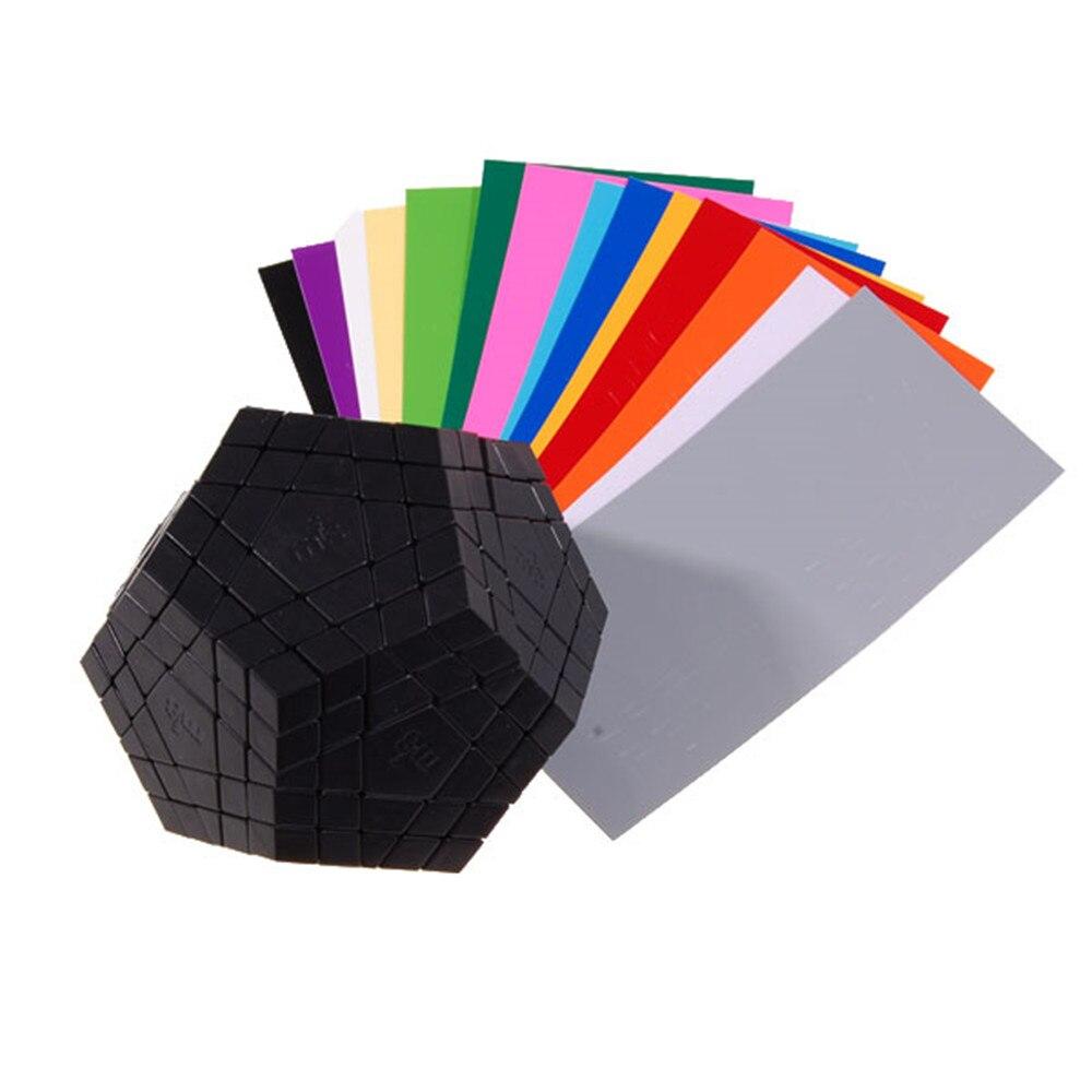 Tout nouveau noir MF8 bricolage Gigaminx Cube magique Cubes de vitesse Puzzle jouet éducatif jouets spéciaux pour les enfants