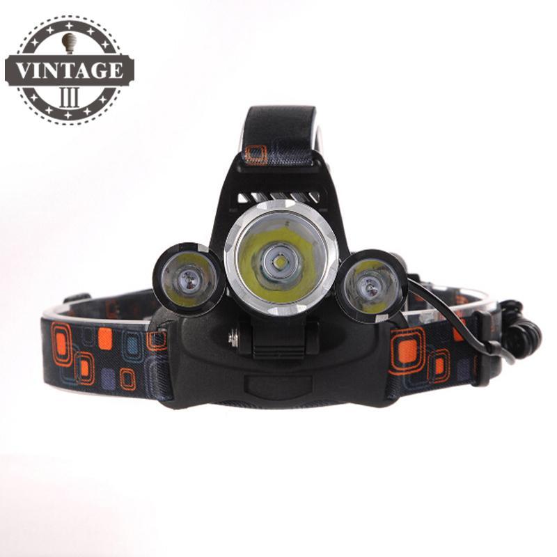 RJ-5000 Headlamp XML T6 8000 Lumens 4 Mode LED Headlight Led USB Power bank Rechargeable Hunting Head Light 18650 Charger