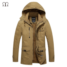 Winter Jean Jacket Men Brand 2016 Warm Thicken Coat Famous Cotton-Padded Fashion Parkas Elegant Business Plus Size 4XL