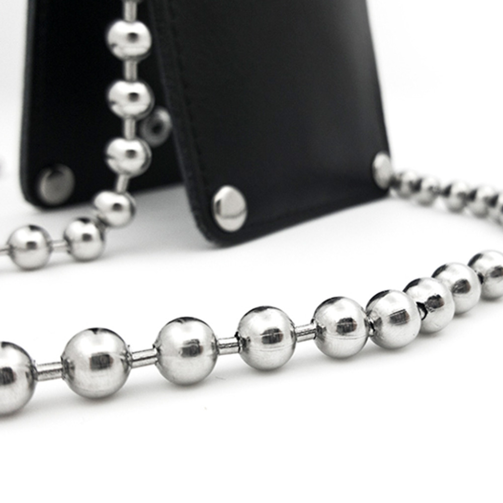 THINKTHENDO Long 120cm/50cm Luxury Fashion Metal Purse Chain Straps Handle Shoulder Bag Cross Body Replacement Handbag